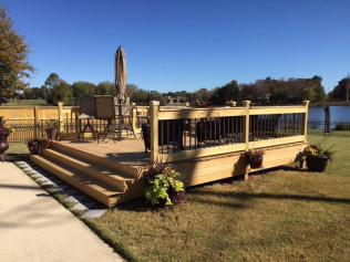 deck remodel in Athens, AL